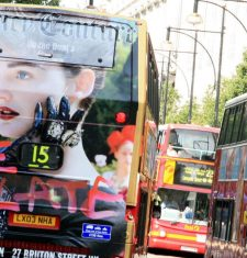 full wrap juicy couture bus london bus advertising