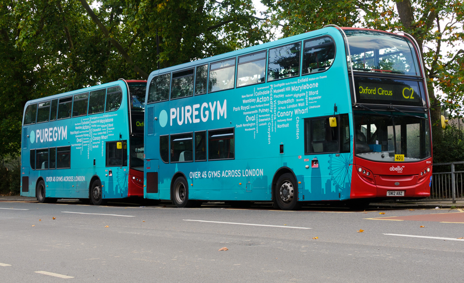 Pure Gym Bus Wrap London