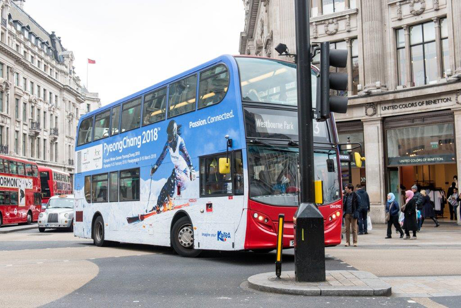 Winter Olympics Bus Wrap